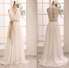 handmade wedding dresses gorgeous v neckline chiffon and lace white prom gowns handmade