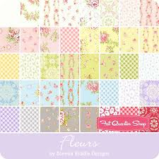 fleurs charm pack brenda riddle designs for moda fabrics