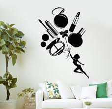 popular furniture for beauty salon buy cheap furniture for beauty cosmetics beauty salon vinyl wall stickers woman girl room makeup wall sticker personality creative wall decal