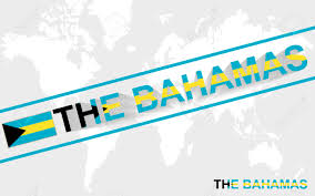 The Bahamas Map The Bahamas Map Flag And Text Illustration On World Map Royalty