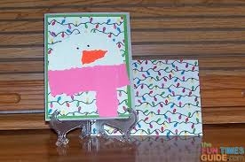 easy snowman card tutorial how to make snowman christmas cards