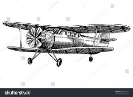 passenger airplane corncob plane aviation travel stock vector