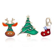 2018 new year charm decorations clothes broochessanta