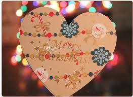 sweet shaped 10 9 5cm merry greeting cards wish