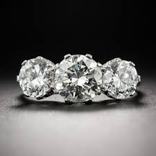 platinum crystal rings images 2 25 carat platinum diamond three stone ring by mappin jpg