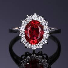 ruby sterling rings images Princess diana inspired 3 2ct ruby sterling silver ring tooty ta jpg