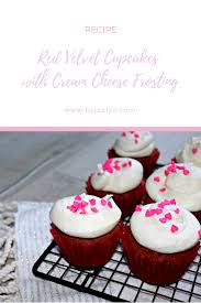 red velvet cupcakes with cream cheese frosting u2014 by jaclyn