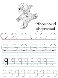 alphabet abc letter gingerbread coloring