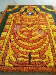 Swastik Decoration Pictures Diwali Special Swastik Rangoli Design With Marigold Flowers How