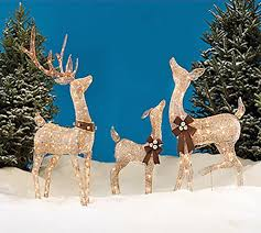 reindeer family 3 set includes glittering gold