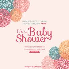 for baby shower floral card for baby shower vector free