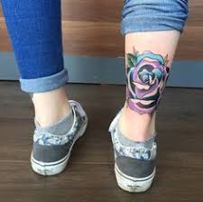traditional purple rose done by davide capone tattoos tattoos