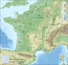 A Map Of France by