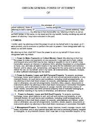 Printable Durable Power Of Attorney by Oregon Minor Child Power Of Attorney Form Power Of Attorney