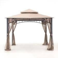 patio furniture gazebo amazon com sunjoy l gz136pst 9 garland gazebo patio lawn u0026 garden