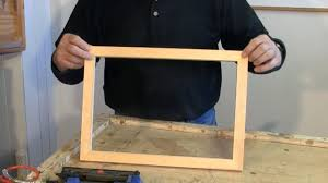 making picture frames with a sliding mitre saw a woodworkweb com