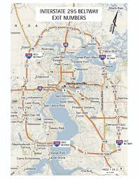 Florida Interstate Map by Fl 9a Future I 295 Exit Numbers