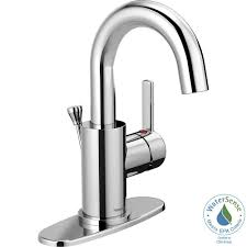 peerless apex 4 in centerset single handle bathroom faucet in