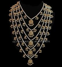 bridal necklace set pearl images Buy kundan pearl pachlada rani haar necklace online jpg