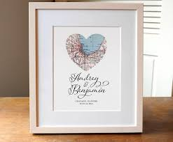 wedding gift personalized heart map wedding personalized wedding gift