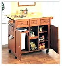 mobile island for kitchen kitchen island with garbage bin inspirational can diy trash populace