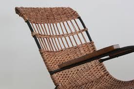 pair of german wicker rocking chairs orange furniture los angeles