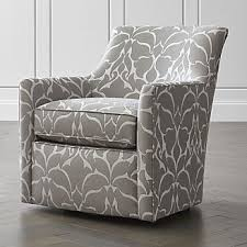 Swivel Accent Chair With Arms Living Room Chairs Accent And Swivel Crate And Barrel