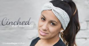 headband ear warmer cinched ear warmer headband pattern monkeys crochet
