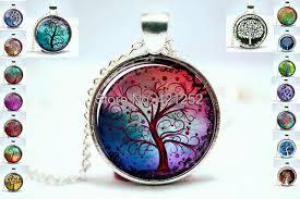 glass necklace pendant images Tree pendant necklace life tree photo glass cabochons necklace jpg
