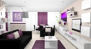 salon et cuisine moderne beautiful salon noir blanc et violet images amazing house design