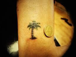 tiny palm tree tattoomagz