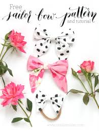 how to make girl bows diy sailor bow tutorial and free pattern natalie malan