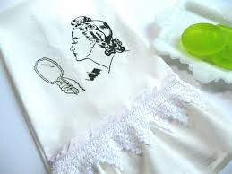 Powder Room Hand Towels Vintage Powder Room Hand Towel Reader Feature The Graphics Fairy