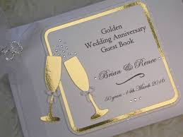 anniversary guest book wedding anniversary guest book personalised