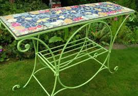 Mosaic Table L Mosaics With Recycled Materials Katy Galbraith Deco