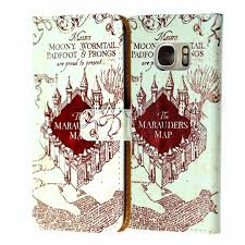 Harry Potter Marauders Map Amazon Com Samsung Galaxy S7 Wallet Case Durarmor Harry Potter