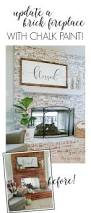 using chalk paint to update a brick fireplace diy beautify