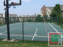 14 best photos of backyard basketball half court dimensions