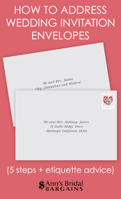 wedding invitations addressing how to address wedding invitation envelopes s bridal bargains