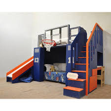 Play Bunk Beds The Ultimate Basketball Bunk Bed Backboard Slide And More