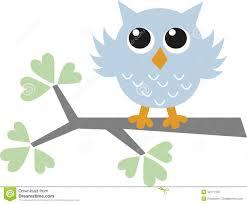 Owl Baby Shower Boy - a sweet little blue owl stock vector image 42171109