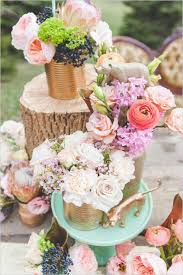 flower centerpieces for weddings 45 charming inexpensive country tin can wedding ideas deer