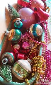 Vintage Christmas Decorations Colorful Christmas Ornaments Love Vintage Christmas