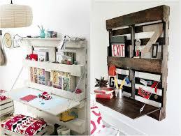 coussin de bureau diy bricolage bureau en bois palettes etageres rangement coussins