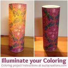 illuminate your coloring pages craft project suziq creations