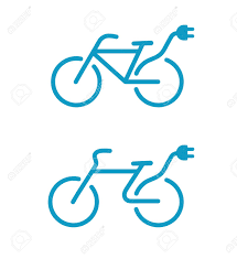 electric vehicles symbol illustration of simple electric bicycle icon royalty free cliparts