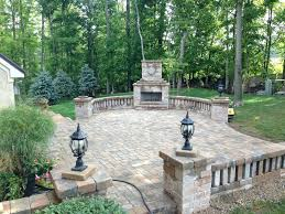 patio ideas garden fireplace design immense brick outdoor
