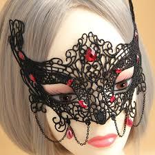bead masks 5pcs lot vire dangle bead chain mask black
