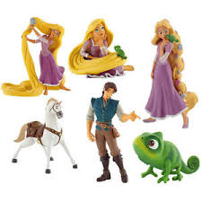 tangled cake topper official bullyland disney tangled figures figurines toys cake