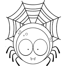 cartoon spider coloring pages halloween spider coloring pages